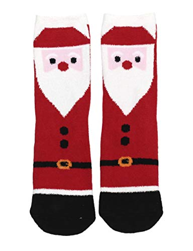 - Gold Medal Women's Soft Plush Festive Holiday Slipper Socks With Grip (Jolly Santa, Shoe Size 5-9)