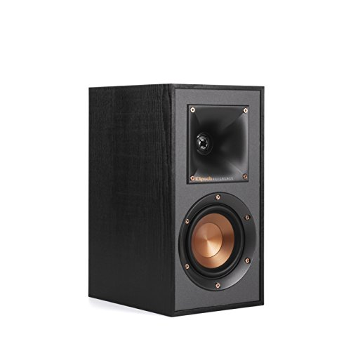 Klipsch R-41M Powerful detailed Bookshelf Home Speaker Set of 2 Black ()