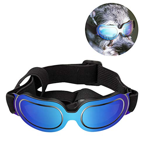 PEDOMUS Dog Sunglasses Eyewear UV Protection Waterproof Pet Goggles Pet Colorful Sunglasses(Blue) from PEDOMUS