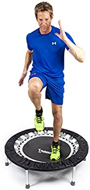 Maximus Pro Voted #1 Home Gym Rebounder Mini Trampoline with Handle bar | Includes 2 x Awesome Fat Burning DVD