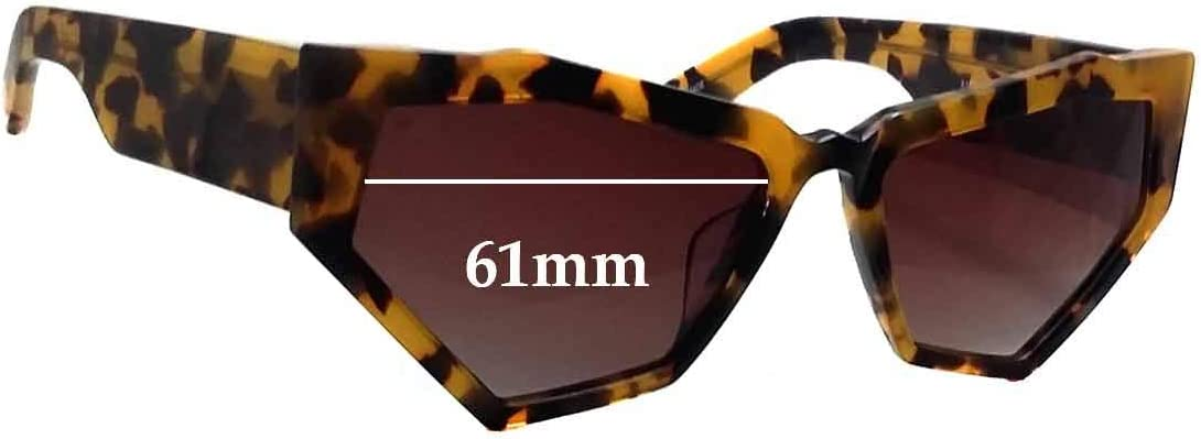 SFX Replacement Sunglass Lenses fits Onkler for Your Eyes Only 61mm Wide