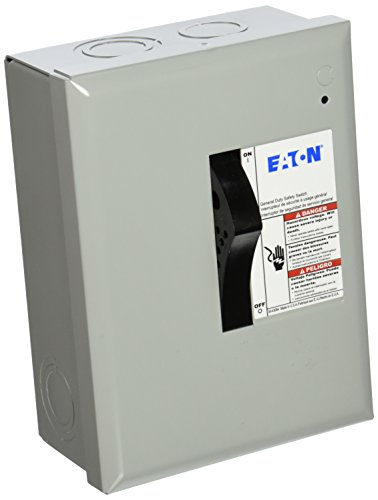 - Eaton Corporation Dp221Ngb Indoor Safety Switch, 120/240V, 30-Amp