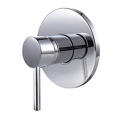 KES L6700 Bathroom Single Handle Mixing Valve Body and Trim Round, Polished Chrome
