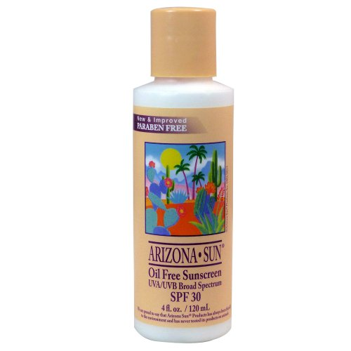Arizona Sun Oil Free - Sunblock SPF 30 - 4 oz - Total Sun Protection Lotion - Oil Free - Face and Body - Sunscreen