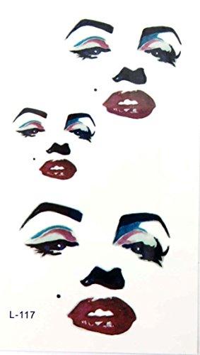 marilyn monroe temporary tattoos boho gift idea (Wholesale Marilyn Monroe)