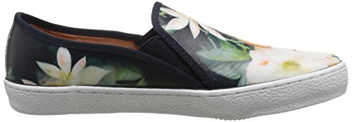 Corso Como Women's Duffy Fashion Sneaker, Taupe, 10 B (M) US Navy Floral Leather
