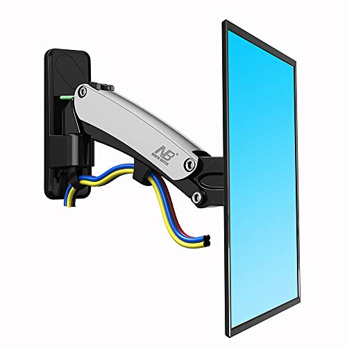 North Bayou TV Wall Mount Bracket Full Motion Articulating Swivel for 40 to 50 Inch TV with Gas Spring F350-S