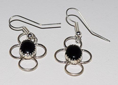 Genuine Navajo Handcrafted Black Onyx Earrings