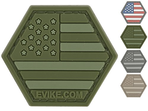"Evike - ""Operator Profile PVC Hex Patch"" United States Flag"
