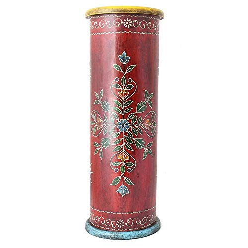 Timbergirl AA12282R Handcrafted Hand-Painted Red Wooden Umbrella Stand, one Size, ()