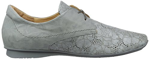 Think Chilli, Zapatos de Cordones Derby para Mujer Gris (stahl 07)