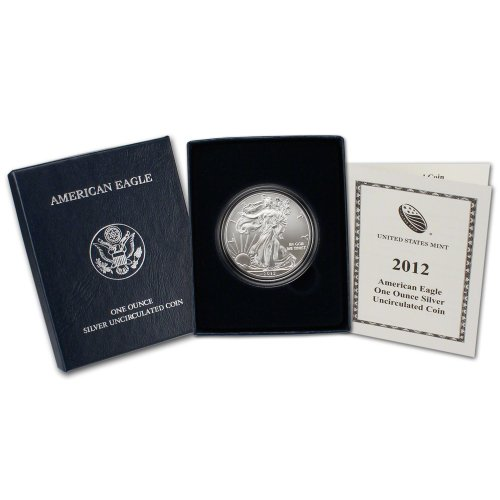 2012 W American Silver Eagle Uncirculated Collectors Burnished Coin $1 OGP US Mint
