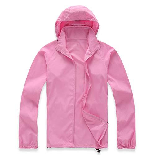 Knob Pink Gloss (Cycling Running Waterproof Windproof Jacket Rain Coat Pink XXL)