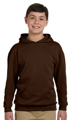 - Jerzees Youth NuBlend� Hooded Pullover Sweatshirt (Chocolate) (X-Large)