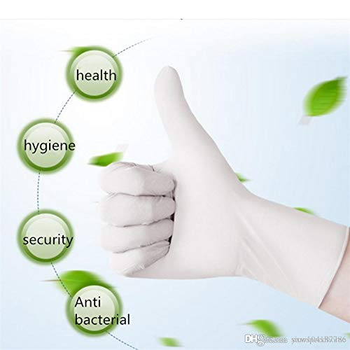Disposable Latex Gloves, Comfortable to Wear Cleaning Gloves 100Pcs Neutral (Medium)