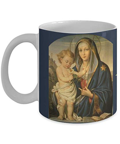 Holy Mary Mother Of God - Catholic Mug Blessed Virgin Mary Jesus 11 oz Holy Mary Mother of God pray for us sinners now and at the hour of our death Religious Gift