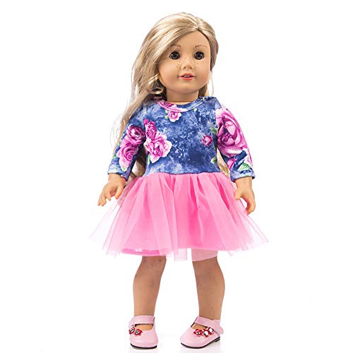 Lavany Doll Clothes Princess Dress Winter Outfits for 18 Inch American Girl Doll Toy (Purple-B) ()