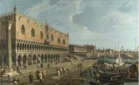 Princess Fiona Costume Child Uk ('Canaletto - Venice - The Doge's Palace And The Riva Degli Schiavoni,late 1730s' Oil Painting, 24x39 Inch / 61x100 Cm ,printed On Perfect Effect Canvas ,this High Quality Art Decorative Canvas Prints Is Perfectly Suitalbe For Bar Artwork And Home Decor And Gifts)