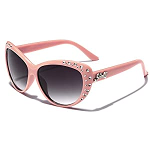 Giselle Kids AGE 6-14 Rhinestone Cat Eye Sunglasses - Pink