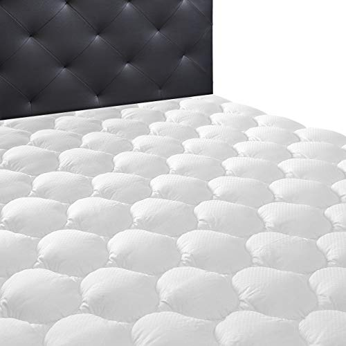 Ecomozz Queen Mattress Pad Cover with (8-21') Deep Pocket - Hypoallergenic Cooling Down Alternative...