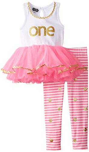 Mud Pie Baby Girl's Birthday 2 Piece Set,  Pink,  12 18 Months (Mud Pie Im One compare prices)