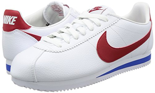 royaléclatant Classic Homme Running Blanc Chaussures Leather De Cortez blanc Entrainement rougeintense Nike vqT0wdv