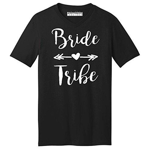 Promotion & Beyond Wedding Bridal Party Gear Bride Tribe Men's V-Neck, M, -