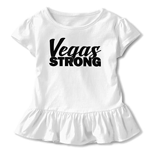 Short Sleeve Vegas Strong Shirts for Children, Cute Sweatshirt with Falbala, 2-6T White]()