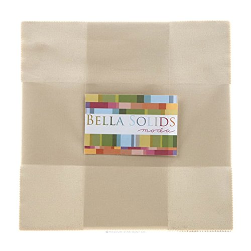 Moda Bella Solids Natural Layer Cake 42 10-inch Fabric Squares 9900LC-12