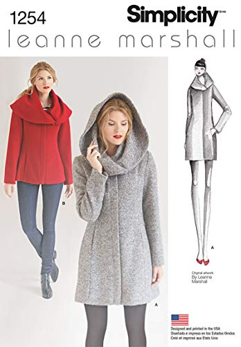 - Simplicity Creative Patterns 1254 Misses' Leanne Marshall Easy Lined Coat or Jacket, Size: D5 4-6-8-10-12