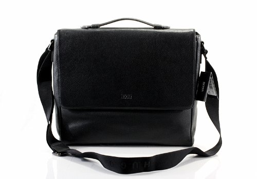 55853fb73c45 Hugo Boss Messenger Bag Bangor 2 Black Workbag  Amazon.co.uk  Clothing