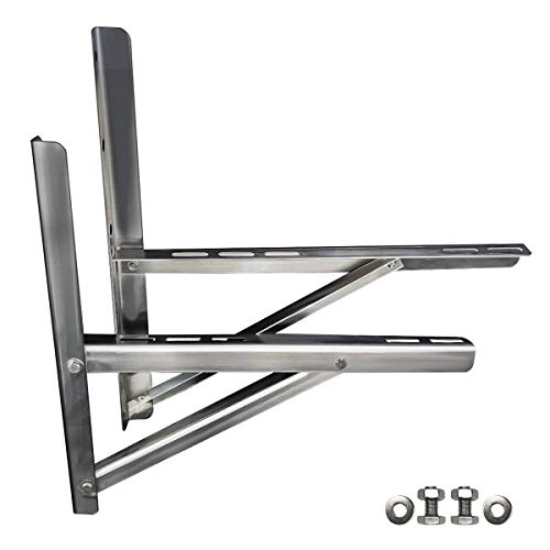 Mounting Bracket Rust Free Stainless Steel Support for 9000-24000BTU Condenser Ductless Mini Split Air Conditioner Heat Pump Systems