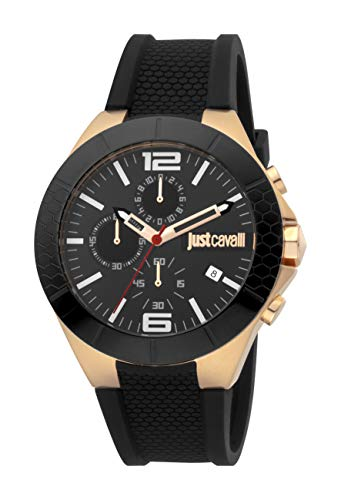 Just Cavalli JC1G081P0055 316L Stainless Steel Mineral Crystal Tang Buckle Watch