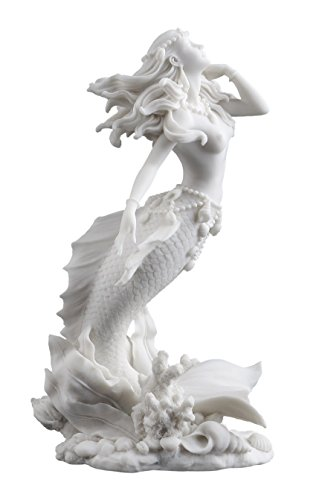Beautiful Mermaid Rising from Sea Statue Sculpture Figurine Nautical Sculpture