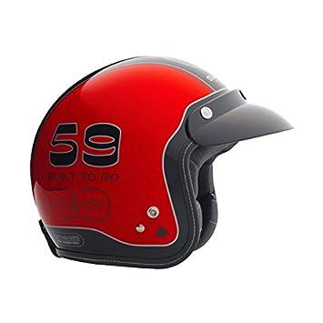 Bultaco Tralla casco rojo Rojo rosso Talla:large