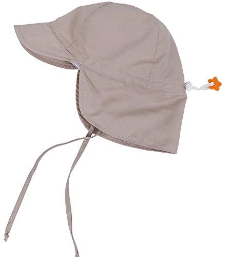Unisex UPF 50+ UV Sun Protection Baby Toddler Swim Hat Flap Cap Khaki Khaki 0-6 Months by Lullaby Kids