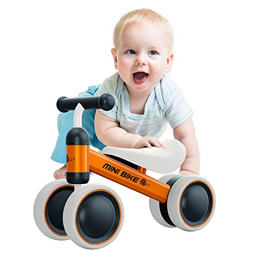 YGJT Baby Balance Bikes Bicycle Baby Walker Toys Rides for 1 Year Boys Girls 10 Months-24 Months Baby's First Bike First Birthday Gift Orange