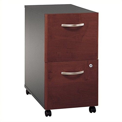 28 Quot Cabinets (Bush Series C Two Drawer Pedestal - 15.71amp;quot; Width x 20.28amp;quot; Depth x 28amp;quot; Height - 2 Drawer - Pressboard - Hansen Cherry, Graphite Frame)