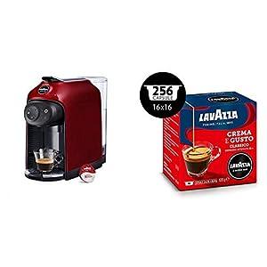 Lavazza a Modo Mio Idola Macchina caffè, Touch, Red Fire & Capsule Caffè Crema e Gusto - Confezione da 256 Capsule