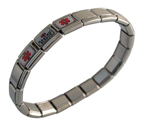 - Gastric Sleeve Medical ID Alert Italian Charm Bracelet