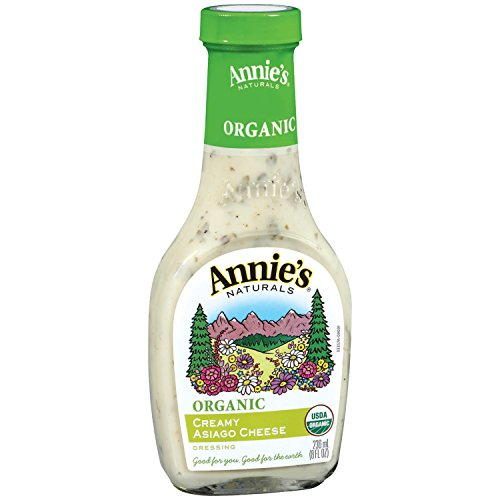 Annie's Organic Gluten Free Creamy Asiago Cheese Dressing 8 fl oz Bottle -