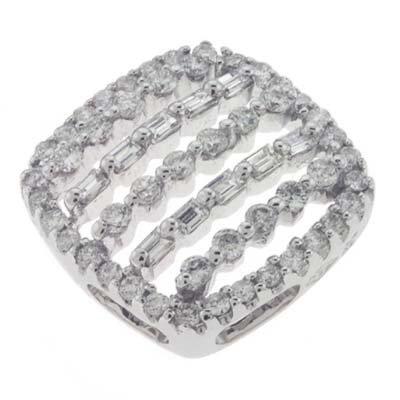 Or blanc 14carats Pendentif Trendy-Diamant 0.54Cts