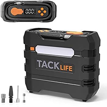 TACKLIFE Digital Tire Inflator, ACP1B Air Compressor Pump, 12V Tire Pump with Unique Continuous Inflation Function,Larger Backlight Display, LED Light, ...