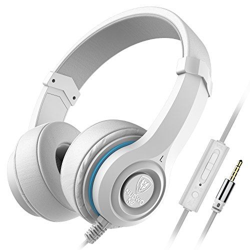 NUBWO N8 Headphones Comfortable Lightweight Adjustable Headsets with Mic and Volume Control for Kids and Adults on PC and Smartphones