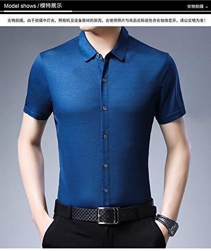 Lxfmz Camisa de Vestir para Hombre Camisa de Manga Larga con ...