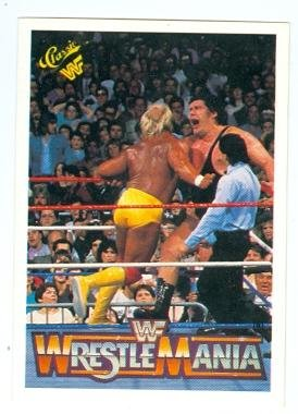 Hulk Hogan versus Andre The Giant trading card 1990 Classic #39 Wrestle Mania VI WWF WWE Wrestling by Autograph...