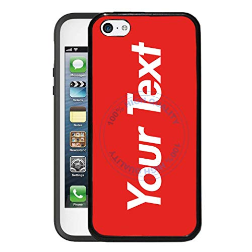 (BRGiftShop Personalize Your Own Hipster Font Text Rubber Phone Case For Apple iPod Touch 5th & 6th Generation)