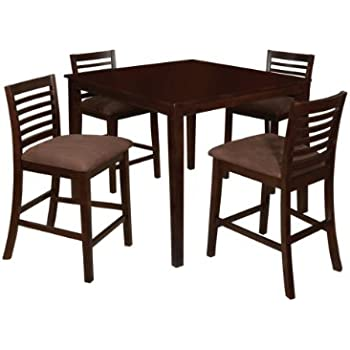this item furniture of america ramone 5piece counter height dining table set espresso finish