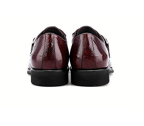 Rosso On Oxford Appartamenti 39 Shoes Abito Slip Red Uomo Sera Scarpe Pelle 45EU Elegante Scarpe HN Formale x1I7qOw