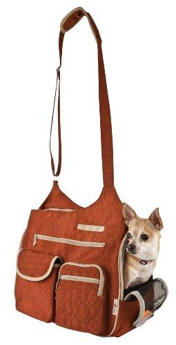 Snoozer Kelsey Cross Body Pet Bag, Rust, My Pet Supplies